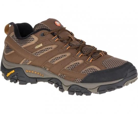 美國 MERRELL MOAB 2 GORE-TEX 黃金鞋底健行鞋/低筒登山鞋/健行鞋 男款 06041