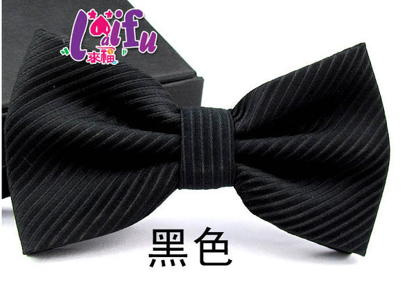 ★草魚妹★K236粗條紋黑色領結糾糾結婚領結,售價99元