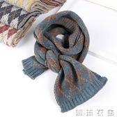 兒童圍巾秋冬新款英倫格子寶寶毛線圍巾韓版潮款男童保暖圍脖  潮流衣舍