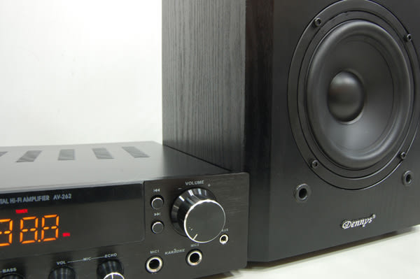 【Dennys】USB/FM/SD/MP3擴大機音響組(AV-262+SP-5300)