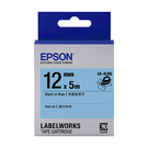 EPSON LK-4LBQ C53S654443 燙印系列粉藍底黑字標籤帶 寬度12mm