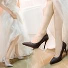 法式高跟鞋女細新款尖頭性感銀色