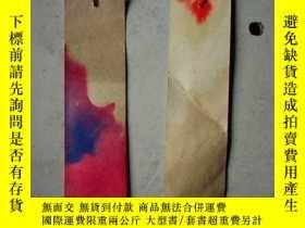 二手書博民逛書店70罕見書籤:毛主席語錄書籤2枚(12.5X3.5CM)2827