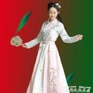 漢服漢服齊腰襦裙女大成人中國風學生束腰古裝秋冬超仙淡雅俠客風白色 衣間迷你屋