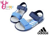 adidas RapidaSwim J 涼鞋 大童 戶外休閒 防水運動涼鞋 I6627#藍◆OSOME奧森鞋業