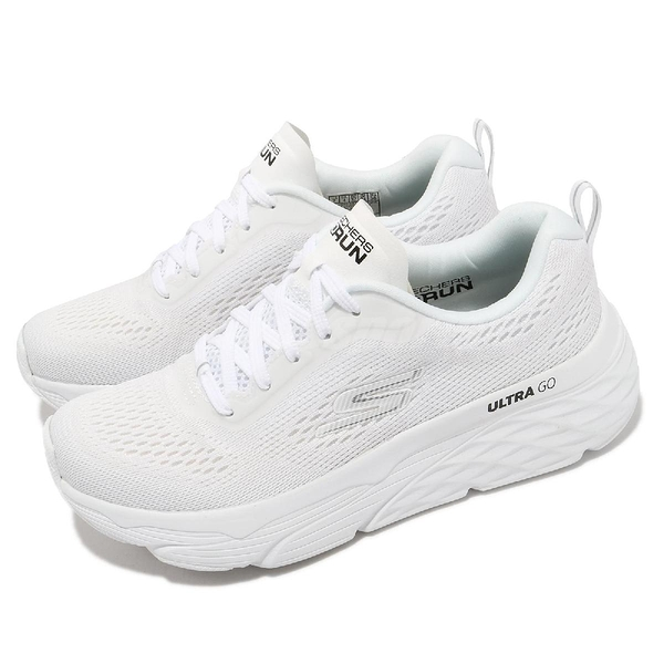 Skechers 慢跑鞋 Max Cushioning Elite Destination Point 女鞋 全白 厚底 運動【ACS】 128262WHT