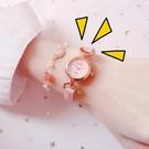 流行女錶 手錶女細帶小巧韓版氣質小錶盤簡約學生可愛初中生櫻花粉日系少女 店慶降價