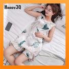 冰絲睡衣睡裙家居服小洋裝尺寸加大2XL寬鬆薄款睡衣-多色M-XL【AAA4738】預購