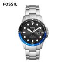 FOSSIL FB- 01 雙色錶框個性大錶針不鏽鋼男錶-星空銀 42MM FS5671