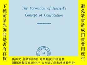 二手書博民逛書店The罕見Formation Of Husserl s Concept Of Constitution-胡塞爾憲法