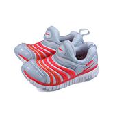 NIKE DYNAMO FREE 運動鞋 毛毛蟲鞋 灰/橘 中童 童鞋 343738-026 no022