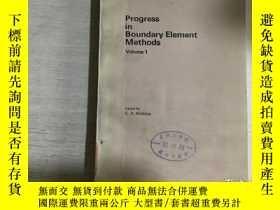 二手書博民逛書店Progress罕見in Boundary Element Me