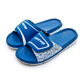 LIKA夢 LOTTO 足球風運動拖鞋 FOOTBALL STYLE系列 藍白 8006 男/女