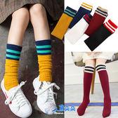 過膝長筒童襪 運動風條紋 兒童高筒襪 中筒襪 膝上襪 堆堆襪女童襪 男童襪  台灣現貨