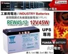 【久大電池】YUASA 湯淺電池 密閉電池 REW45-12 APC 飛瑞 科風 台達 UPS 不斷電系統電池