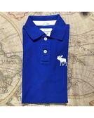 【蟹老闆】Abercrombie & Fitch 美國麋鹿 A&F 男短袖POLO衫 白大麋鹿 寶藍