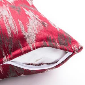 福語緹花抱枕 45x45cm 紅