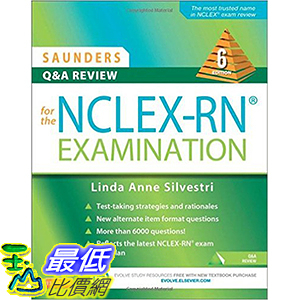 [美國直購] 美國暢銷書 Saunders Q & A Review for the NCLEX-RN Examination, 6e 6th Edition