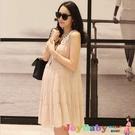 夏季孕婦裝韓版-緞帶浪漫蕾絲連衣裙 孕婦裙-JoyBaby