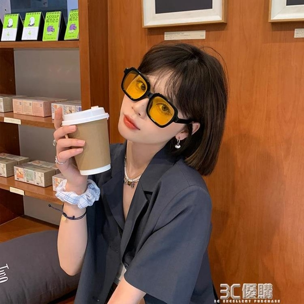 小物家家墨鏡ins網紅百搭時尚顯臉小搭配小紅書推薦眼鏡防紫外線 3C優購