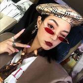 太陽眼鏡女橢圓形墨鏡原宿復古眼鏡潮 聖誕交換禮物
