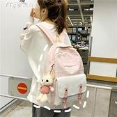 日繫背包風書包女學生韓版初高中大容量少女校園原宿時尚雙肩包 雙十一鉅惠