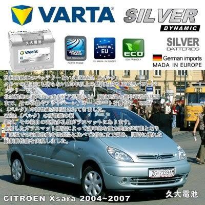 ✚久大電池❚ 德國進口 VARTA 銀合金 D15 63Ah 雪鐵龍 CITROEN Xsara 2004~2007