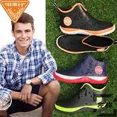 雨鞋男防水低筒時尚水鞋防滑雨靴膠鞋短筒【左岸男裝】