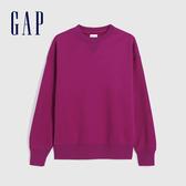 Gap男裝 簡約風格純色圓領休閒上衣 627535-牡丹紅
