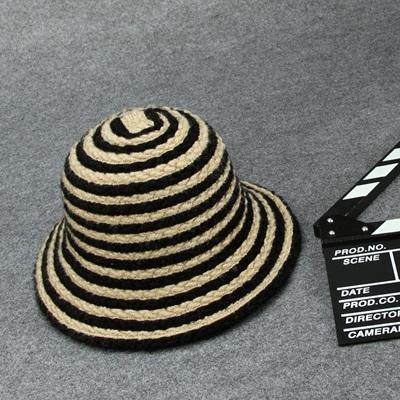毛帽-拼色條紋加厚保暖女針織帽5色73ug46【巴黎精品】