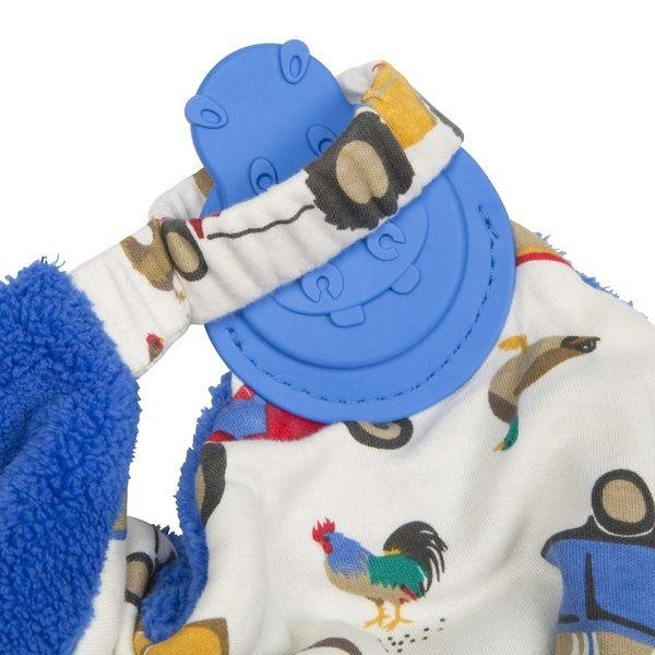 【英國 Cheeky Chompers】全世界第一個咬咬巾-開心農場(英國設計師Joules聯名款)