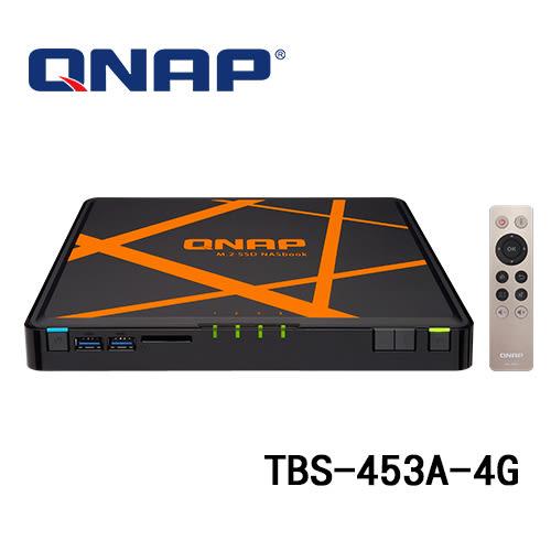 (訂貨要3-5工作天) QNAP 威聯通 TBS-453A-4G (4G記憶體) 4Bay M.2 SSD NAS 網路儲存伺服器