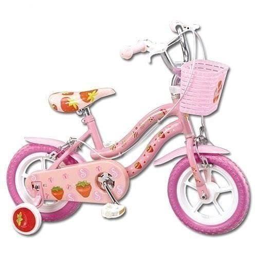 *粉粉寶貝玩具*親親Ching Ching 12吋腳踏車~草莓兒童腳踏車