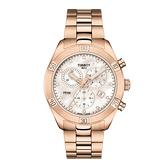 ◆TISSOT◆天梭 PR 100系列 絕美流線計時石英腕錶 T101.917.33.116.00玫瑰金