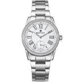 【BENTLEY】賓利 Classic系列 典藏風範奢華女錶 (白/銀 BL1615-1020002)
