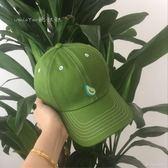 刺繡綠色鴨舌帽男女棒球帽子     ciyo黛雅