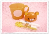 小花花日本精品♥Hello Kitty 拉拉熊懶熊立體臉頭滿滿豐富圖好實用好攜帶牙刷膏組/漱口杯