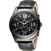 東方錶 ORIENT 羅馬時光計時時尚錶 FTW04005B 黑
