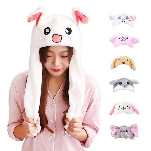 現貨!動物耳朵帽 兔子耳 貓耳 可愛帽動物造型帽 氣囊 女生配件 網紅直播 頭飾 #捕夢網