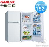 【佳麗寶】-留言加碼折扣《台灣三洋 / SANLUX 》192L定頻雙門冰箱SR-C192B1