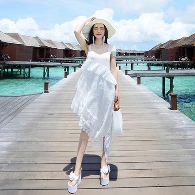 波希米亞長裙-蕾絲拼接清新氣質洋裝73sg68【巴黎精品】