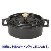 法國 Staub 橢圓形鑄鐵鍋 23cm-黑色  STOVAL-2581