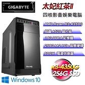 【南紡購物中心】技嘉平台【太妃紅茶II】(R3-4350G/256G SSD/16G D4/500W/Win10)