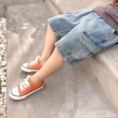 男童牛仔短褲洋氣潮寶寶夏季工裝褲兒童夏裝五分褲中褲韓版新 格蘭小舖