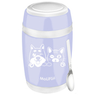 MoliFun魔力坊 不鏽鋼真空保鮮保溫燜燒食物罐550ml-淡雅紫(毛小孩版)(MF0230LVU)