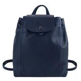 【南紡購物中心】LONGCHAMP LE PLIAGE CUIR系列黑釦小羊皮後背包(中/海軍藍)