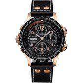 Hamilton 漢米爾頓 KHAKI AVIATION 碳纖維元素機械腕錶-黑/44mm H77696793