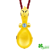 幸運草金飾-大吉金匙-黃金墜子  彌月金飾 滿月禮 金湯匙