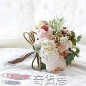 森繫韓歐式新娘手捧花球仿真