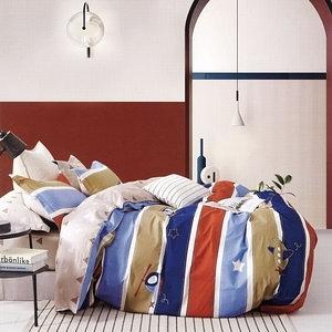 BUTTERFLY-純棉三件式枕套床包組-快樂飛行(雙人)